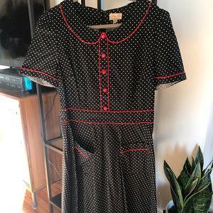 LindyBop Polkadot Swing Dress